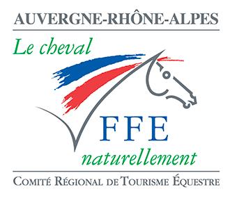 Logo FFE Tourisme Equestre Auvergne Rhone Alpes