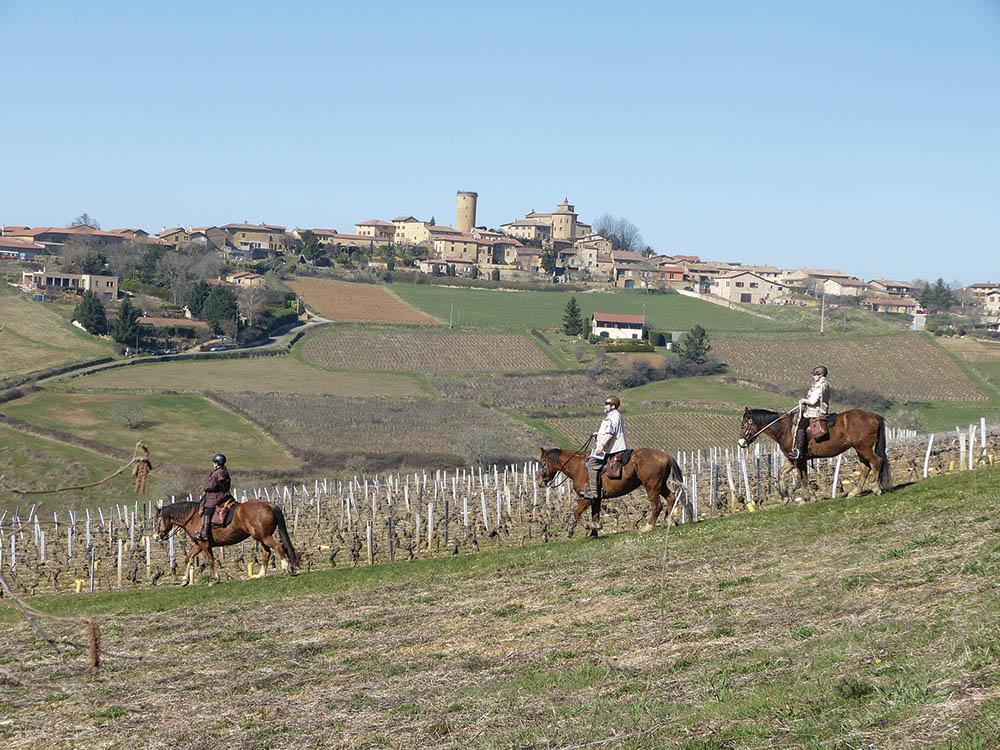 5 gites 5 sites randonnée à cheval dans le Rhône