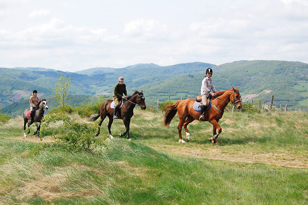 Au pays des pierres dorées gpx cheval
