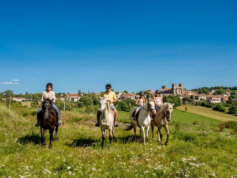 Boucle Dore La chaise Dieu Baffie itinéraire cheval