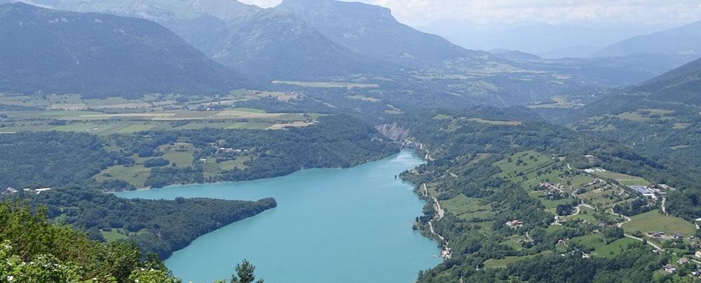 Lac du Sautet Matheysine Isère Randonnée Cheval