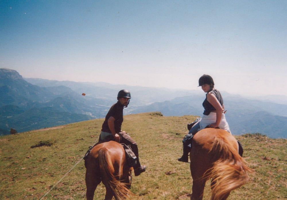Les chemins de Mandrin randonnée à cheval Isère