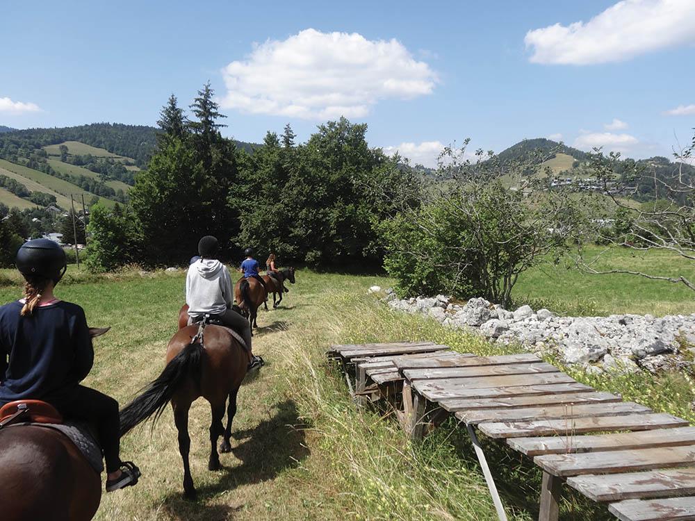 Randonnée à cheval Vercors Isère