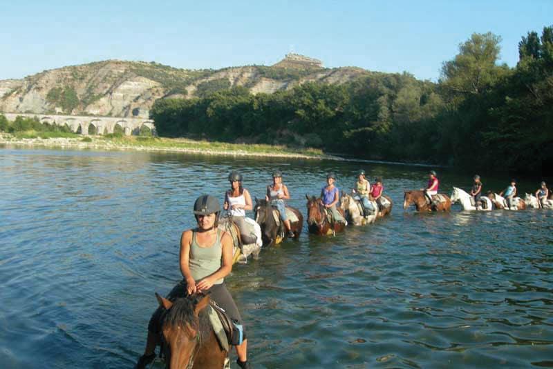Randonnée équestre Gorges de l'Ardèche Circuit des Châtaignes