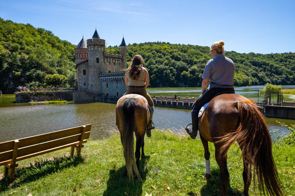 Randonnée tracé GPX cheval Cornes d'Urfé Loire