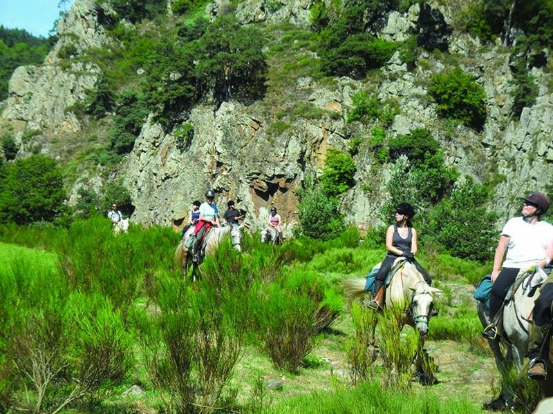 Velay Vert Randonnée cheval Haute Loire