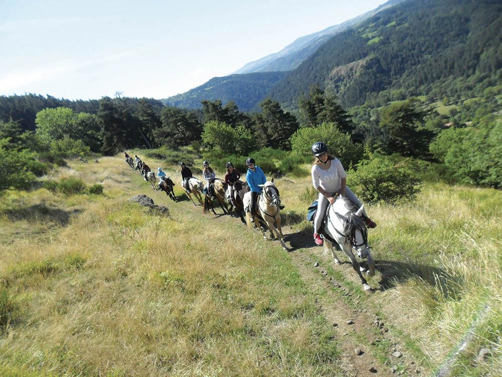 Velay Vert randonnée à cheval