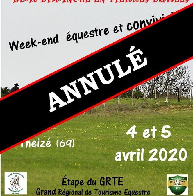 – ANNULE – GRTE Rhône -BoDiPiDo ouvre la saison de tourisme équestre