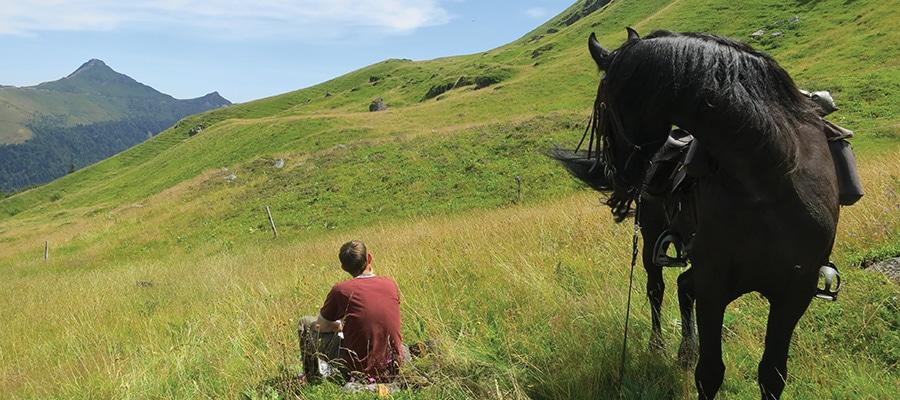 Randonnee a cheval les Monts du Cantal