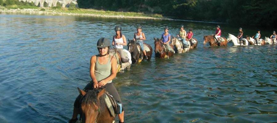 Circuit des Chataignes randonnee a cheval Ardeche