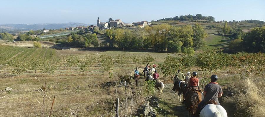 Les Monts du Vivarais circuit a cheval Ardeche