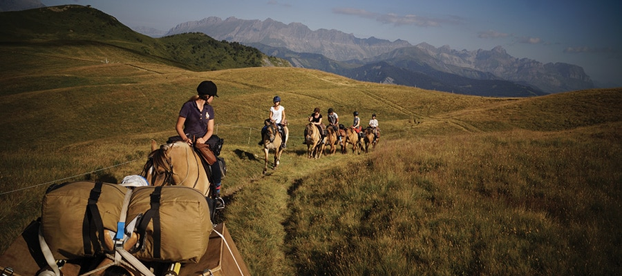 Randonnée à cheval Massif du Beaufortain Savoie