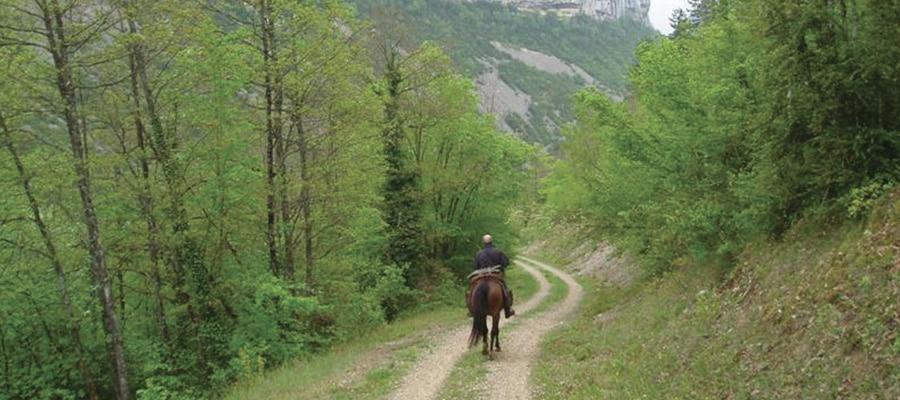 Circuit des Caves et des Fours du Bugey-Sud randonnee cheval