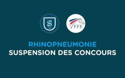 Rhinopneumonie équine : Suspension des concours et rassemblements équestres