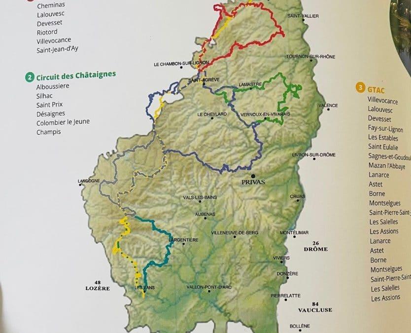La commission itinéraires et hébergements du CDTE Drôme Ardèche sur le terrain du côté ardéchois !