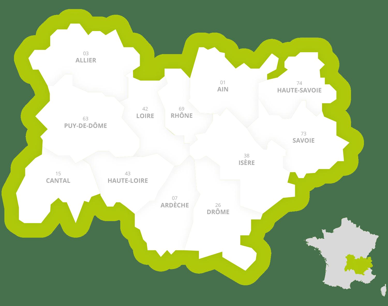CRTE Carte région Tourisme Equestre Auvergne Rhone Alpes