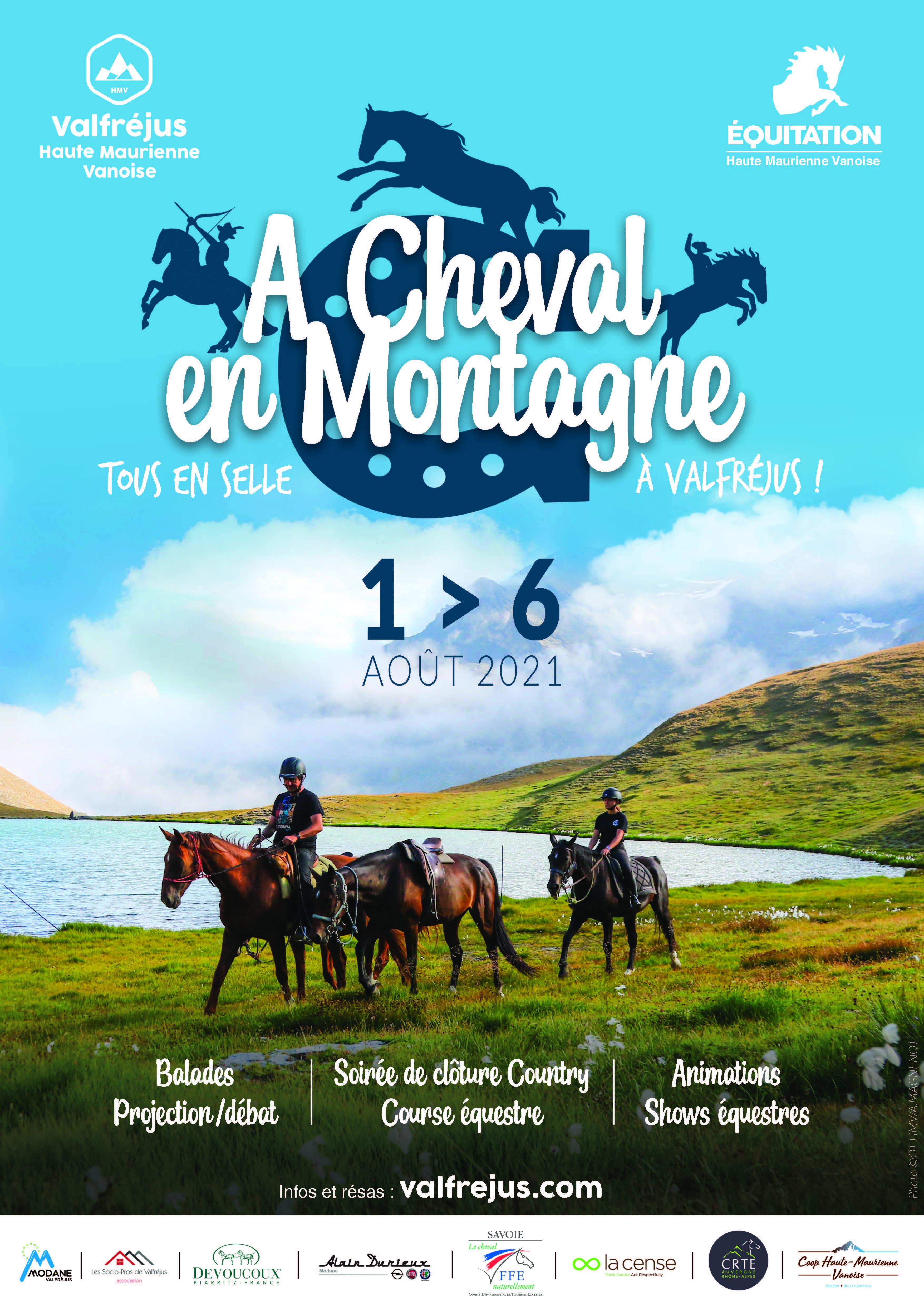 À Cheval en montagne 2ème édition du 1er au 6 août